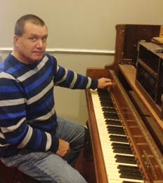 Mr. Pilant with Piano